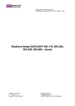 Návod pro NG - 660