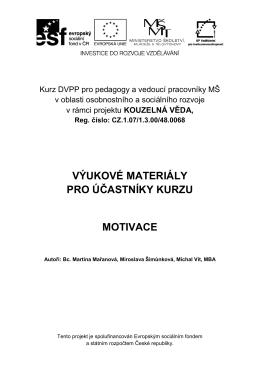 Výukové materiály - Motivace