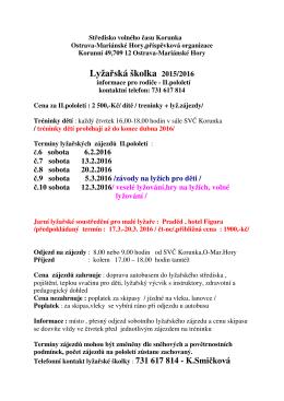 Informace - SVČ Korunka