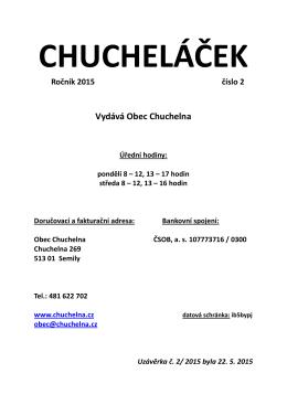 číslo 2 - Obec Chuchelna.