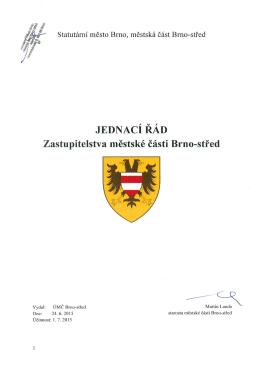 Jednací řád Zastupitelstva MČ Brno