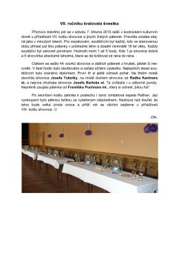Závěrečné zhodnocení VII. Kostnického koštu 2015