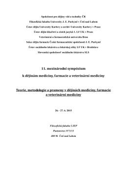 Pozvánka a další informace v 1. cirkuláři