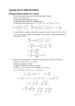 Typický test F2 KME 2015/2016