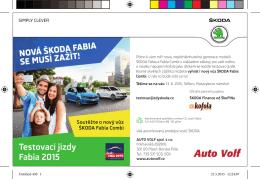 Testovací jízdy Fabia 2015