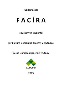 facir-2015-oslavy - Česká lesnická akademie Trutnov