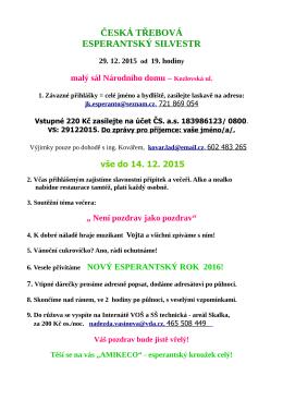 Pozvánka 2015 - Esp. Silvestr