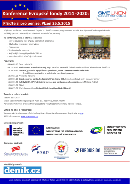 pozvánka zde - Unie malých a středních podniků