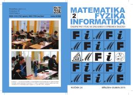 Obálka - matematika–fyzika–informatika