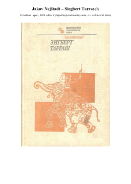 Jakov Nejštadt – Siegbert Tarrasch