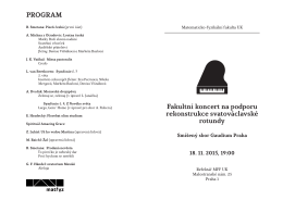 Program - Gaudium Praha