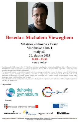 Beseda s Michalem Vieweghem Městská knihovna v Praze