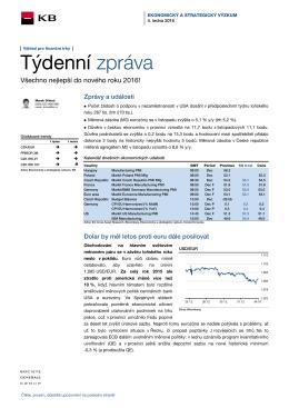 Týdenní zpráva - Komerční banka a.s.
