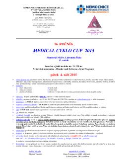 MEDICAL CYKLO CUP 2015