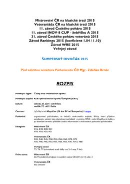 Rozpis - Klub vytrvalostních sportů Šumperk