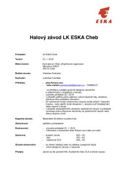 Halový závod LK ESKA Cheb.pages