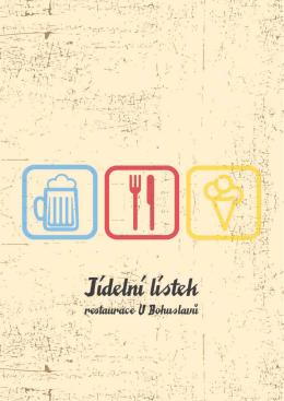 jídelní lístek - Restaurace u Bohuslavů