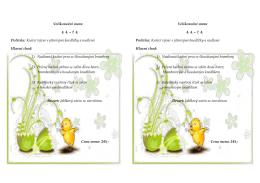 Velikonoční menu 4. 4. – 7. 4. Polévka: Kuřecí vývar s játrovými