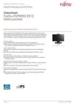 Datasheet Fujitsu ESPRIMO X913 Stolní počítač