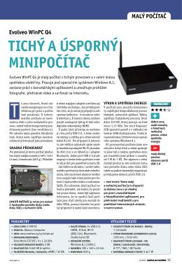 Evolveo WinpC Q4 tiChý a úsporný Minipočítač