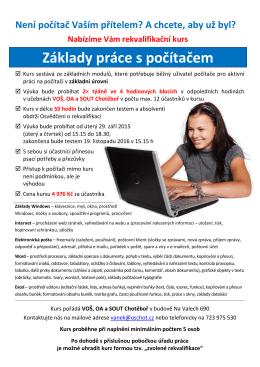 Základy práce na počítači