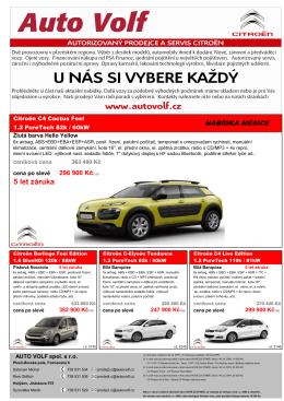 5 let záruka - AUTO VOLF spol. s r.o.