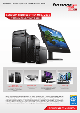 LENOVO® THINKCENTRE® M93/M93p