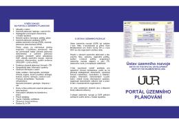 Více informací - Portál územního plánování
