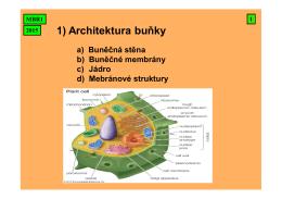 1) Architektura buňky