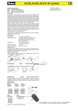 05-302_05-304_05-310 RF vysílače