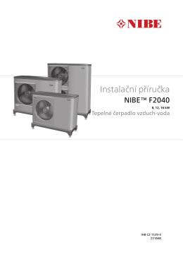 NIBE F2040 - Návod pro instalaci