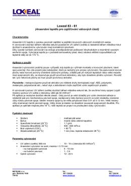 LOXEAL 83-61 technický list