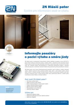 2N Hlásič pater - 2N Telekomunikace a.s