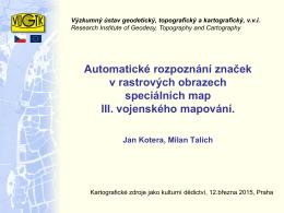 prezentace - Kartografické zdroje jako kulturní dědictví