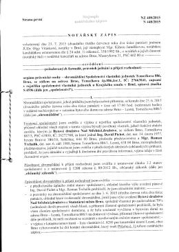 NOTÁŘSKÝ ZÁPIS - bytytomeckova.cz