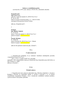 Pachtovní smlouva č. 53-15