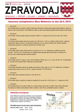 Zpravodaj č.2 / 2015, z května 15