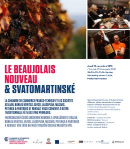 le beaujolais nouveau & svatomartinské