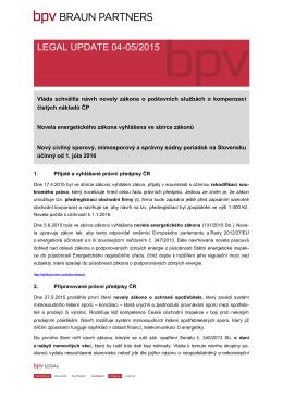 LEGAL UPDATE 04-05/2015