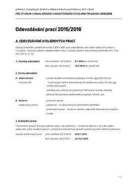 Odevzdávání prací 2015/2016