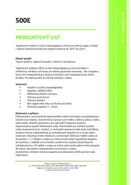 Produktový list 500P - AV