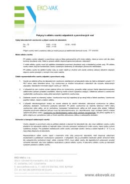pokyny k odběru odpadních a povrchových vod - EKO
