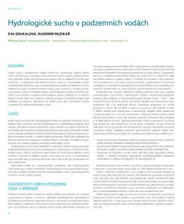 Hydrologické sucho v podzemních vodách