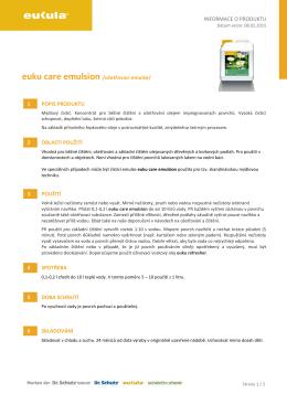INFORMACE O PRODUKTU euku care emulsion