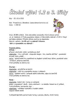 Prosečnice u Benešova (www.demon.borovice.cz)