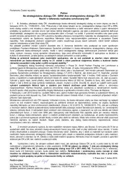 Petice Ne strategickému dialogu ČR