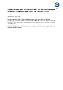 Akreditace Německým Spolkovým úřadem pro silniční