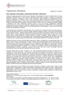 24. 2. 2015 / Tisková zpráva