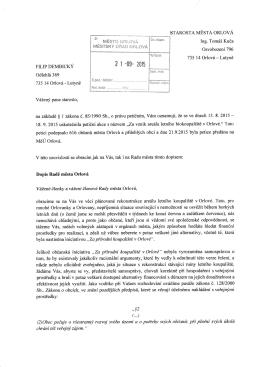 Dopis - Orloviny