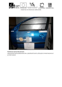Pomůcka pro opravy laku karoserie ukazuje postup opravy